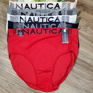 Nautica 5pk super soft high waist briefs plus 2X